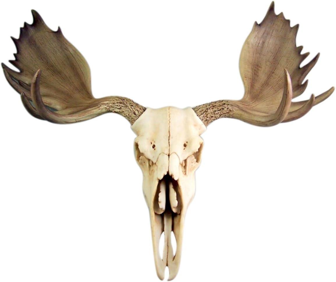 Resin Moose Skull Rustic Wall Head Mount 19 Inch