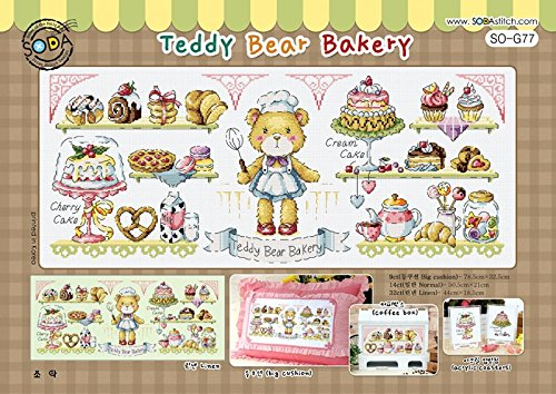 SO-G77 Teddy Bear Bakery, SODA Cross Stitch Pattern leaflet,