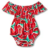 ccb71361d9f ...  2  BFUSTYLE Baby Girls Off-Shoulder Bodysuit Rompers Infant Floral  Onesies 0-