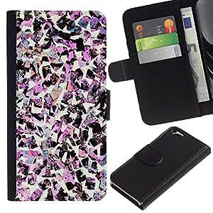WINCASE (No Para IPHONE 6 PLUS) Cuadro Funda Voltear Cuero Ranura Tarjetas TPU Carcasas Protectora Cover Case Para Apple Iphone 6 - pájaros arte de la moda decorativa de color rosa