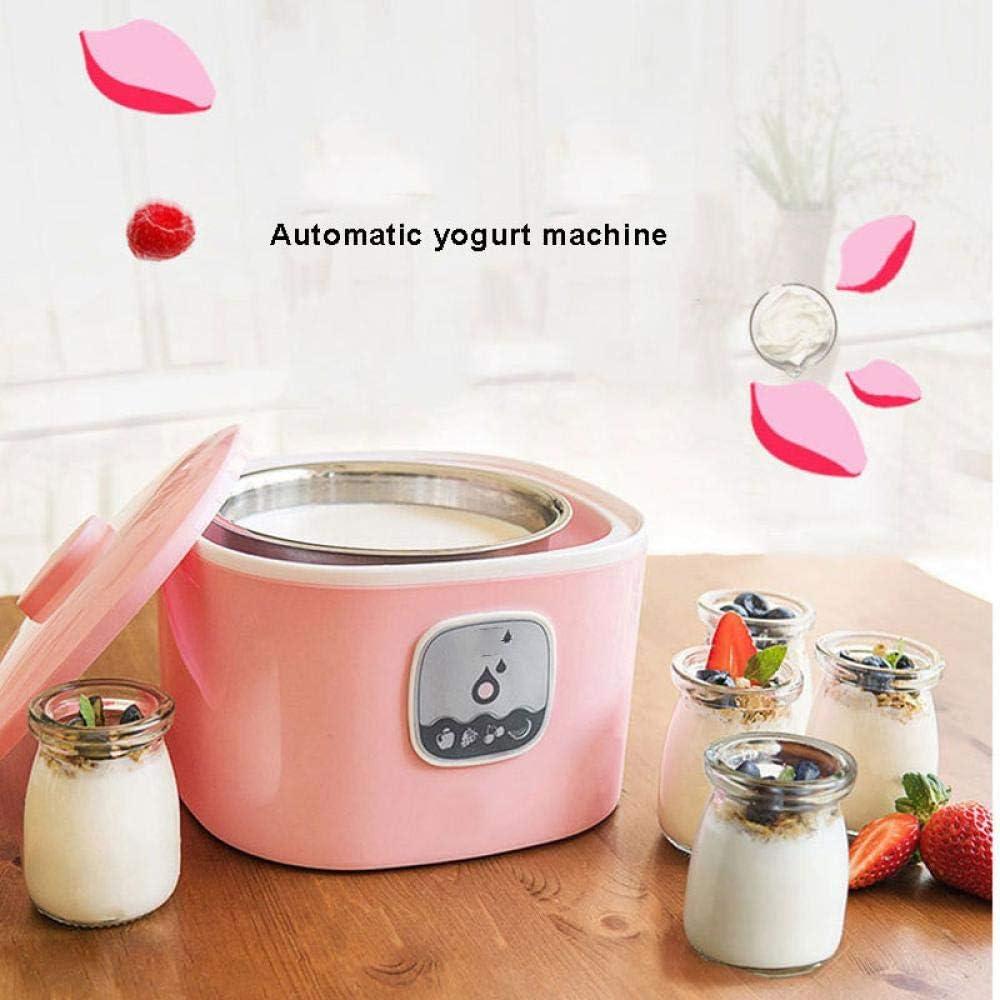 220V Elettrico Automatico Macchina Per Yogurt Yogurt Fai Da Te Strumento Multifunzione In Acciaio Inox Macchina Per Yogurt 1L Verde Green
