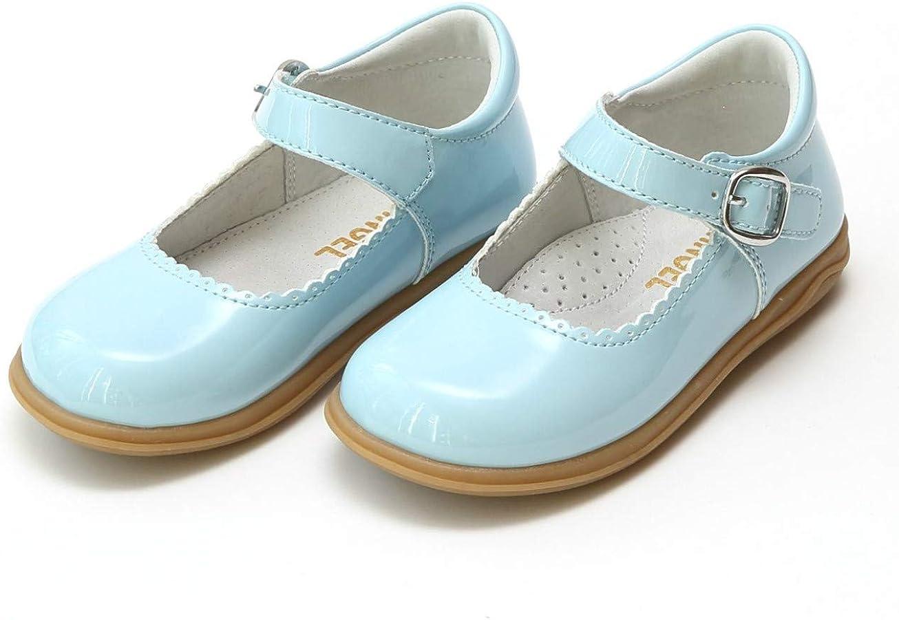 LAmour Toddler Girl Black Glitter Bow Strap Ballet Slipper Shoe