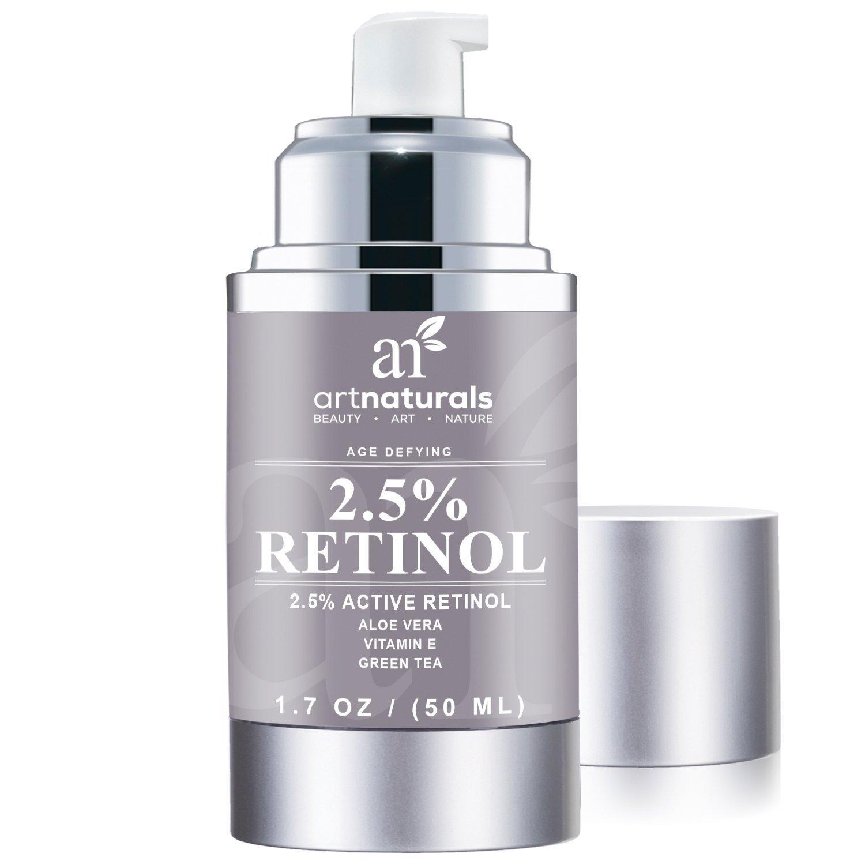 Retinol amounts in moisturizers - Amazon Com Artnaturals Anti Aging Retinol Cream Moisturizer With Hyaluronic Acid Vitamin E C And Aloe Vera 1 7 Oz Beauty