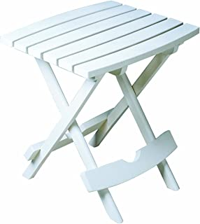 product image for Adams Manufacturing, White 8500-48-3700 Plastic Quik-Fold Side Table