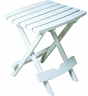 Adams Manufacturing 8500 48 3700 Plastic Quik Fold Side Table, White