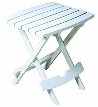 adams plastic quikfold side table white