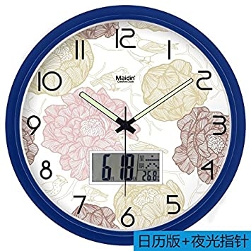 BABYQUEEN 13 Inch Fashion Creative Simple Number Wall Clock Living Room Bedroom Mute Fashion Creative Art
