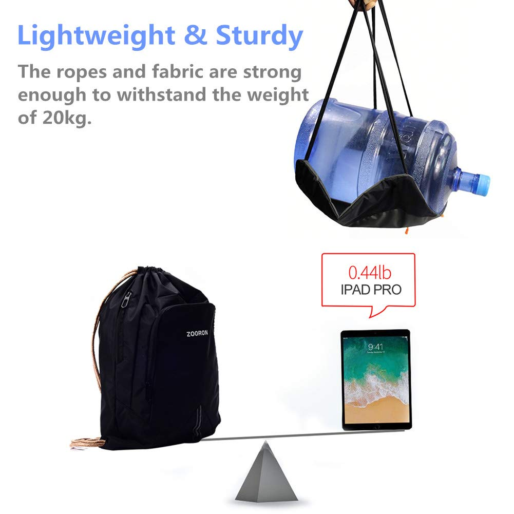 Amazon.com | ZOORON Waterproof Drawstring Gym Backpack Bag for Men & Women, Sport Gym Sack Mini Travel Daypack | Drawstring Bags