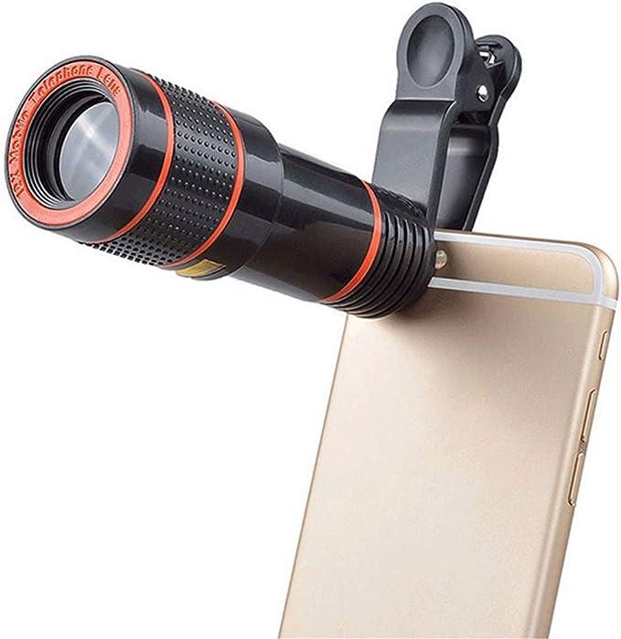 Lente de cámara para teléfono Celular, GFEU 12X Zoom Telescopio de ...