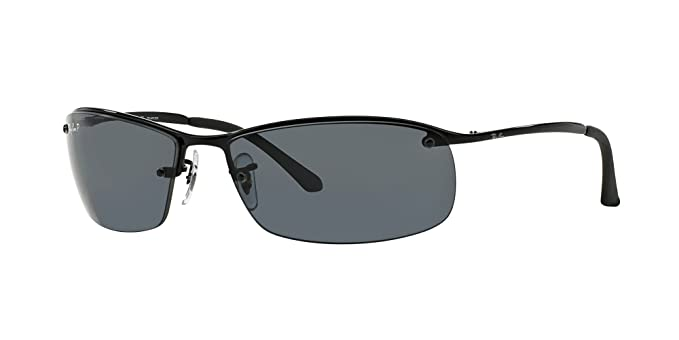 3928020c1d Image Unavailable. Image not available for. Color  Ray-Ban RB3183 002 81  Black  Polar Grey Gradient Lenses 63mm Polarized