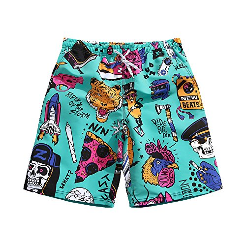 Vintage Mens Swimsuit - Mens Ultra Quick Dry Punk Vintage Fashion Board Shorts 2X-Large 37-38