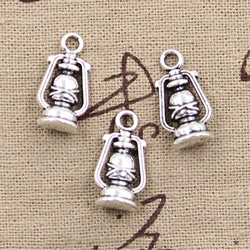 20pcs Charms Ancient Oil lamp Antique Silver Charms Pendants for Making Bracelet Necklace Jewelry Findings Jewelry Making Accessory 20x10x6mm ()