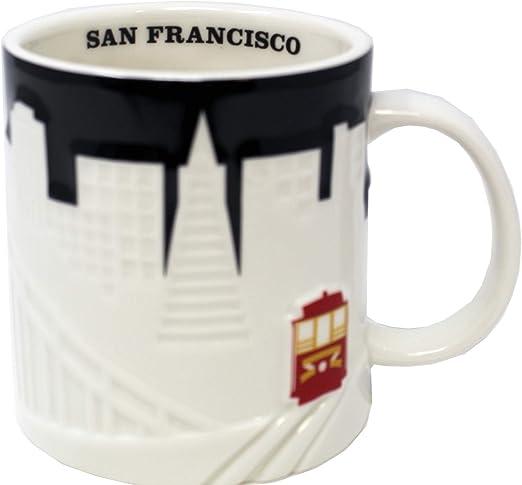 Starbucks New York City Skyline Coffee Mug NYC Taxi Relief Collector Series 2012