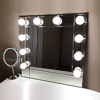 Tomshine Led-spiegellamp, 10 leds, make-upverlichting voor spiegel, make-up Hollywood licht, 7000 K, spiegellamp, 5…