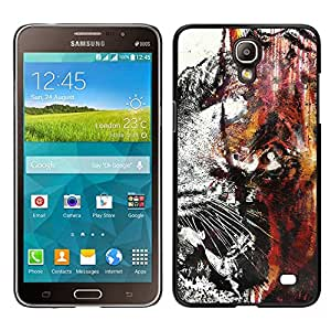 EJOY---Cubierta de la caja de protección la piel dura para el / Samsung Galaxy Mega 2 / --Tiger Graffiti
