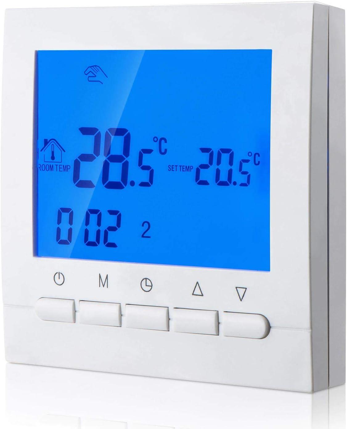 KPS Termostato digital para calefacción con programación 6 periodos dias laborables y 2 periodos fines de semana KPS CONFORTLINE TERMODIGI