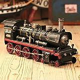 BWLZSP 1 PCS Steam locomotive model car car model ornaments window photography props retro iron ornaments gifts AP5241631