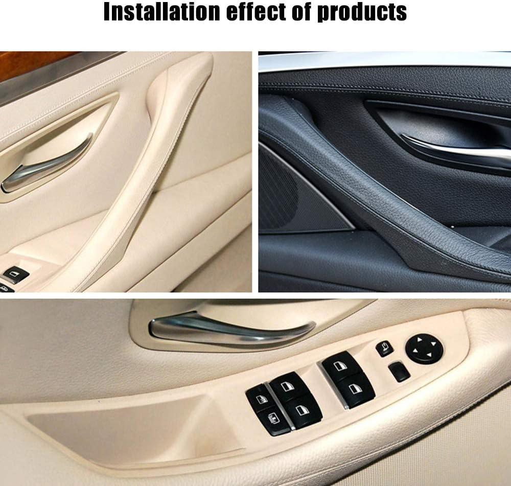 4Pcs Guida a sinistra per BMW Serie 5 F10 F11 F18 Beige Nero Interno auto Maniglia interna Pannello Pannello decorativo