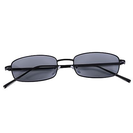 Vintage Toogoo Negro Gafas Retro S8004 Marco De Sol Hombres Gris Mujeres Rectangulares Pequenas IYgyfvb76