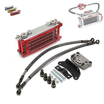 Fast Pro Radiador de Refrigeración de Aceite para Motocicleta, 125 CC, 140 CC, Color Rojo: Amazon.es: Coche y moto