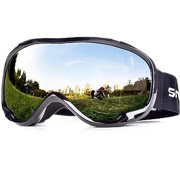 Snowledge Gafas de Esquí, Máscara Gafas de Esqui Hombre Snowboard Nieve Espejo para Hombre Mujer Adultos Juventud Chicos Chicas Anti Niebla Gafas de ...