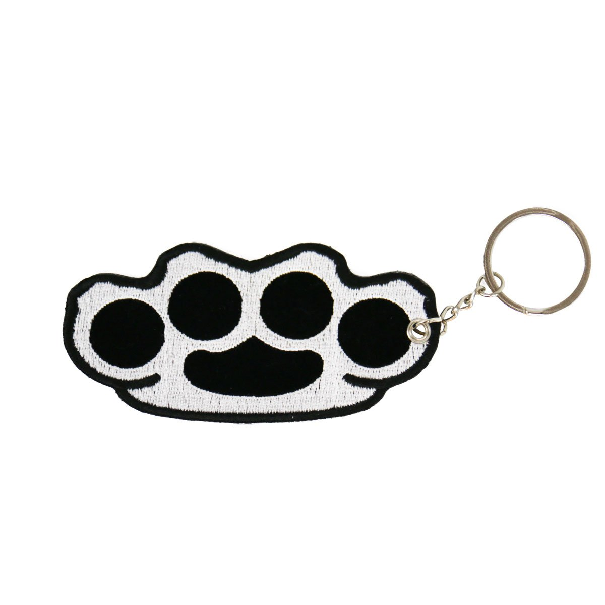 Hot Leathers KCH1029-23560 Brass Knuckles Embroided Key Chain