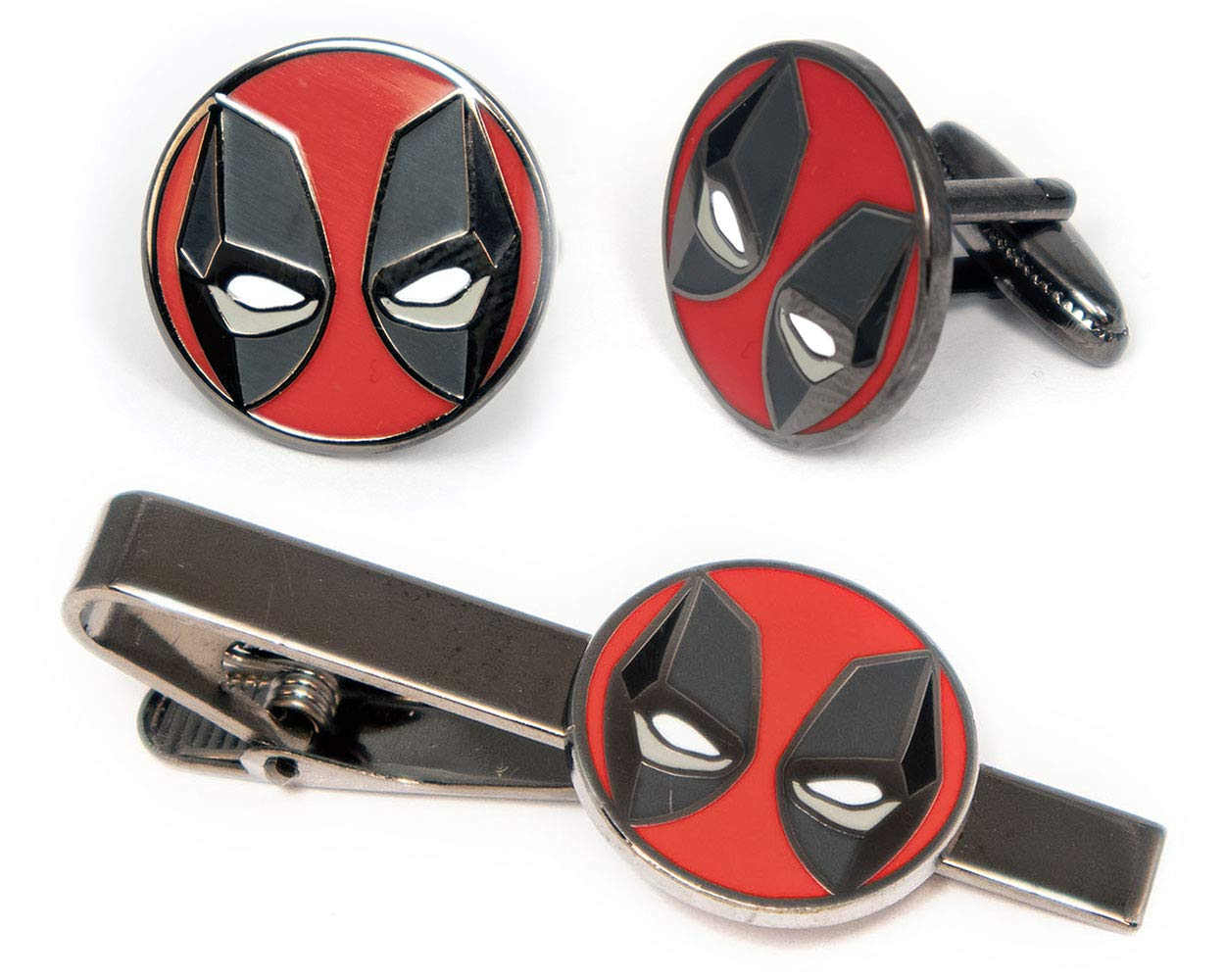 SharedImagination Deadpool Tie Clip, The X-Men Cufflinks, Marvel Minimalist Jewelry, Wolverine Cuff Links Link, Cable Tie Tack Groomsmen Wedding Party Gift