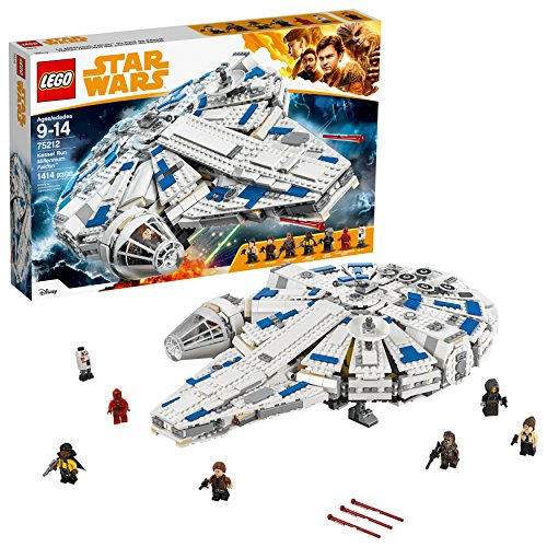 LEGO Star Wars Solo: A Star Wars Story Kessel Run Millennium Falcon 75212 Building Kit and Starship Model Set, Popular Building Toy and Gift for Kids (1414 Piece) (Best Lego Sets For 8 Year Old Boy)