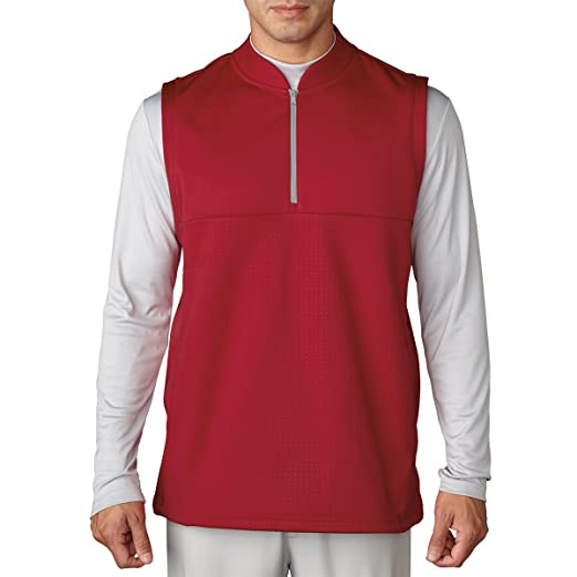 633b73da0aa8 Amazon.com  adidas Golf 2016 Climawarm 1 4 Zip Debossed Iconic Gilet  Breathable Insulation Mens Golf Vest  Sports   Outdoors