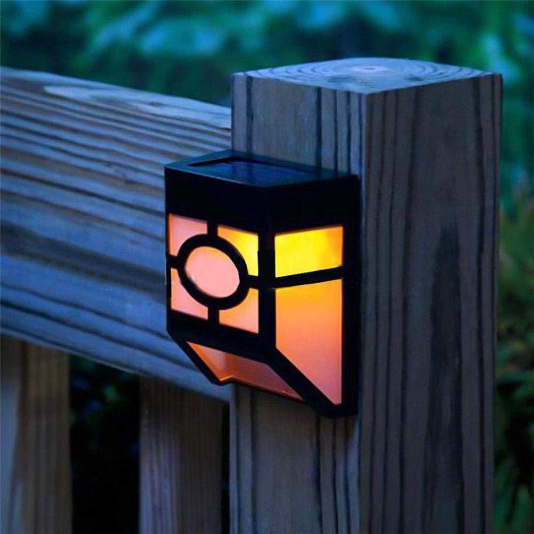 Muilek Wall Lamps Solar Powered Sconces Mount LED Light Outdoor Wall Light