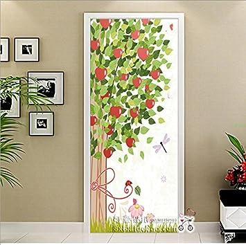 Die Tür gegen die Tür zum Schlafzimmer renoviert selbstklebend Glas ...