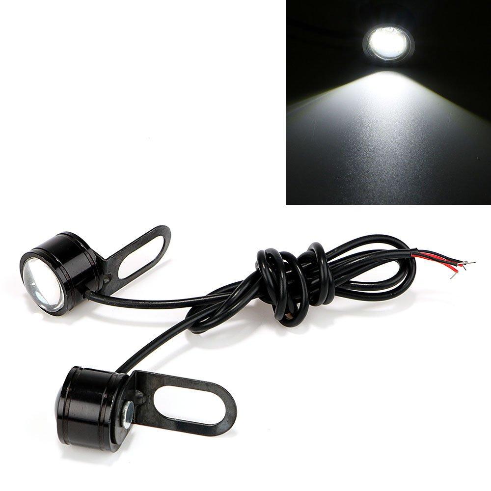 DC 12V Car Daytime Running Light iTimo 2Pcs//Set Eagle Eye LED Reverse Backup Light Super Bright Motorcycle Fog Lamp