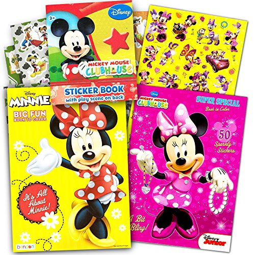 Disney Minnie Mouse Coloring Book Set with Stickers -- 2 Deluxe Coloring Books and over 150 (Minnie Mouse Coloring Book)