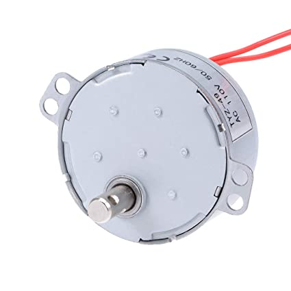 uxcell Synchronous Motor AC 110V 50/60Hz 2 5RPM CCW Torque 4W Turntable  Gear Box for Microwave Oven