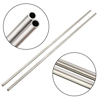 2 x 304 Acero Inoxidable Tubo Capilar Dd 4mm Id 3mm Longitud 250mm