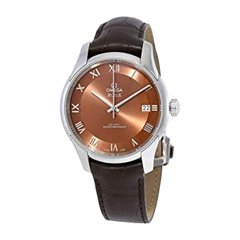 909cbfd211bb5 Image Unavailable. Image not available for. Color  Omega De Ville Hour  Vision Automatic Bronze-Colored Dial Men s Watch ...