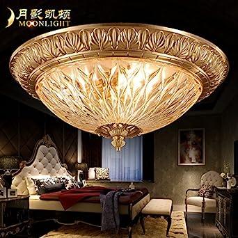 YPOSION Continental Decke Licht Cu Alle Schlafzimmer Licht Retro Leuchten  Led Licht Amerikanische Studie Lampe Leuchtet