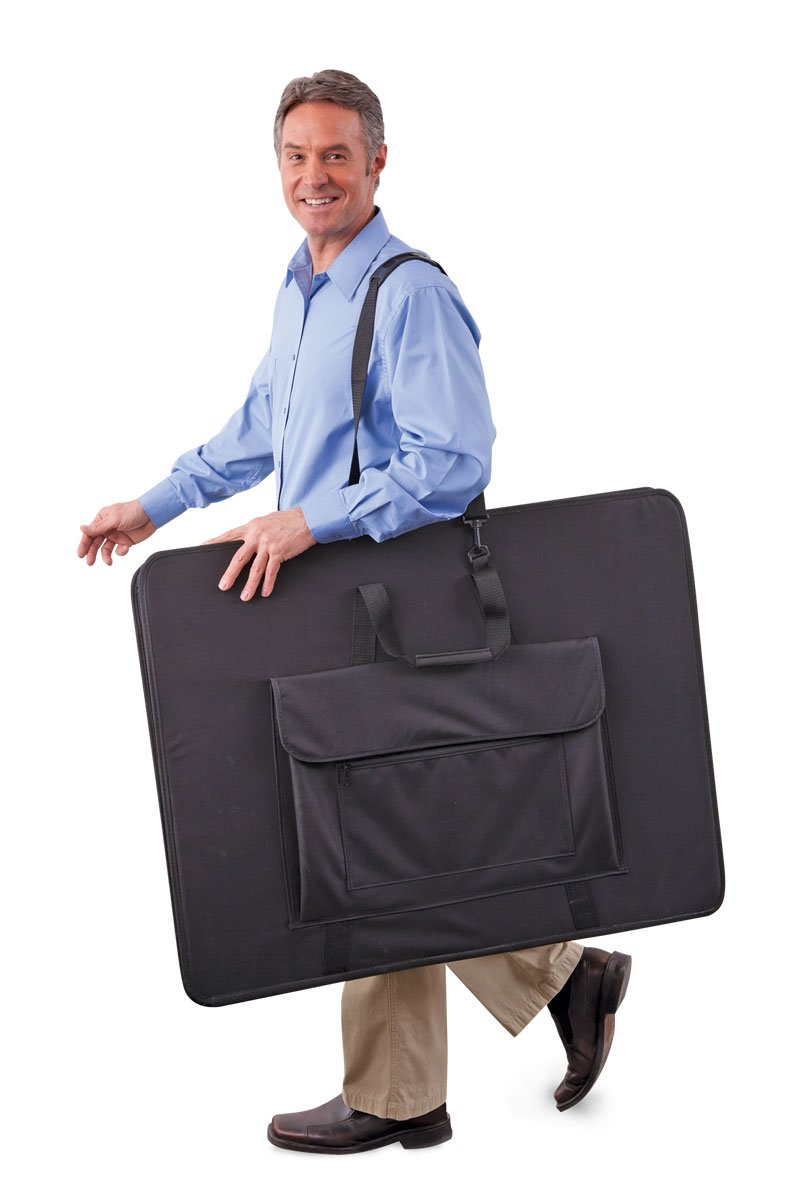 Flip Chart Flat Bag - Black Carry Case Tote For Trainers