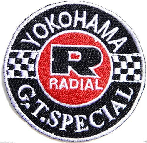 Yokohama Tires Logo Automotive Performance MotoGP Motorcycles Car Racing Motorsport Biker Racing Patch Iron on Applique Embroidered T Shirt Jacket Costume Accessories Craft