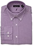 Nautica Mens Classic Performance Gingham Button Down Collar Dress Shirt