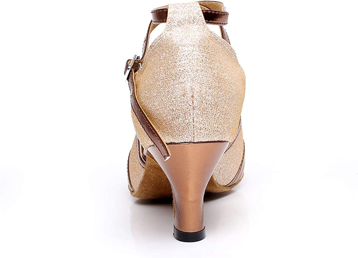 Chaussures Tango Latin Jazz Chaussures Femme Chaussures De Danse Moderne Chaussures De Danse De Salon Chaussures Femme Zapatos de Baile Profesional Para Mujer Chrome