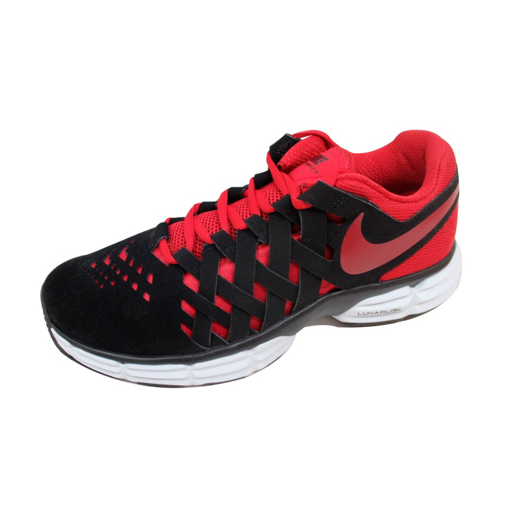 NIKE Men's Lunar Fingertrap Cross Trainer B01N0TA5QA 11.5 EEEE US|Black Gym Red White