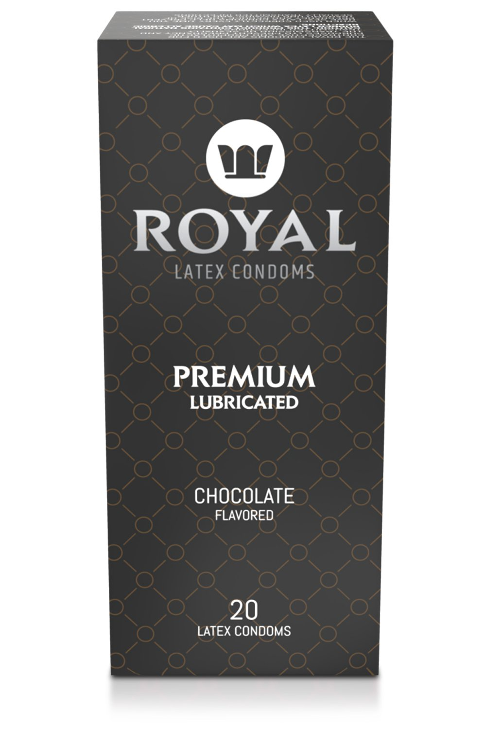 Condoms Bulk, Chocolate Flavored, Ultra Thin, All Natural, Organic, Vegan, Gluten Free Latex Covered in Edible Water Based Lube for Long Lasting Extended Pleasure, 20 Count by Royal