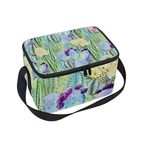 079a74fd5191 Amazon.com: Lunch Bag Beautiful Cactus Custom Womens Insulated Lunch ...