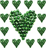 Christmas Ringing Green Jingle Bells, 1-inch - (100-Pack) - Beads Charms Xmas Jewellery Craft
