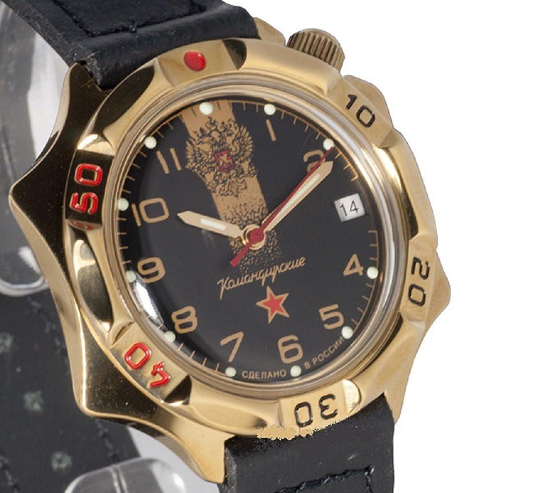 Vostok KOMANDIRSKIE 539792/2414 un militar ruso de las fuerzas especiales reloj negro: Vostok: Amazon.es: Relojes