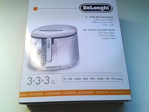 Delonghi 5525103400 - Filtro de freidora para freidora FP-AEC-E9, etc.: Amazon.es: Hogar
