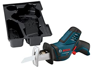 Bosch Bare-Tool PS60BN 12-Volt Max Lithium-Ion Pocket Reciprocating Sawwith Exact-Fit L-BOXX Tool Insert Tray
