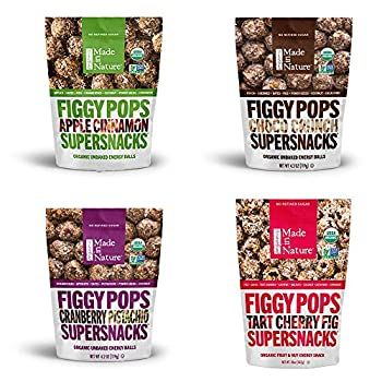 Made In Nature Organic Figgy Pops 4 Flavor Variety Pack (Pack of 4)