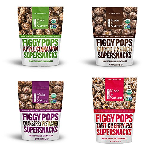 Made In Nature Organic Figgy Pops 4 Flavor Variety Pack (Pack of 4) by Made In Nature